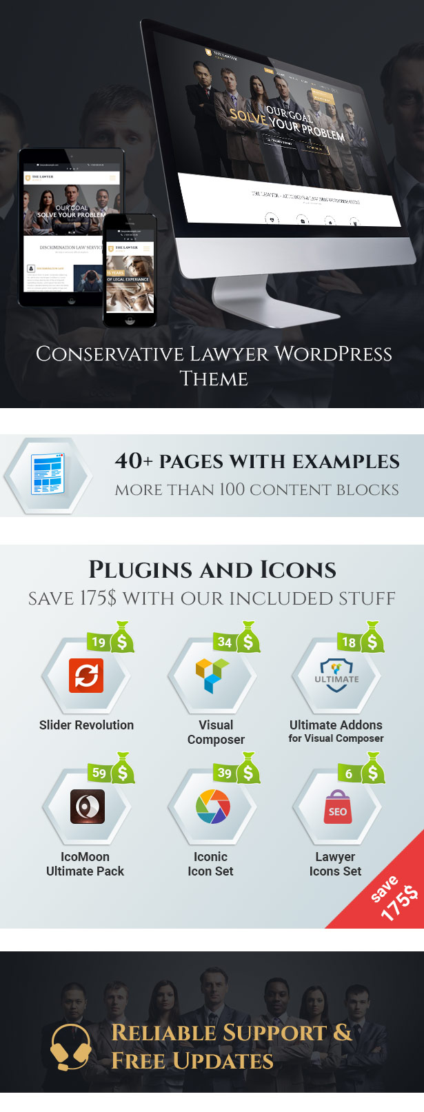 The Lawyer WordPress Theme Demonstrations